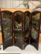 AN ANTIQUE HAND PAINTED CHINESE MODESTY SCREEN