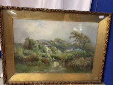A LARGE GILT FRAMED OIL PAINTING SIGNED BY THE RENOWNED ARTIST HENRY HADFIELD CUBLEY (1858 - 1934)