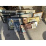 A LARGE QUANTITY OF FRAMED PRINTS AND PICTURES