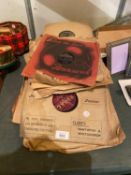 A SELECTION OF VINTAGE GRAMOPHONE RECORDS