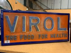 AN ILLUMINATED 'VIROL - THE FOOD FOR HEALTH' SIGN