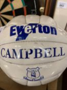 A KEVIN CAMPBELL EVERTON OFFICIAL MERCHANDISE FOOTBALL