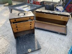 TWO WOODEN TOOL CHESTS - NO VAT
