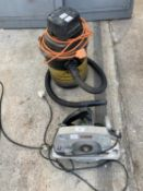 A METABO CIRCULAR SAW AND AN AQUA VAC - NO VAT