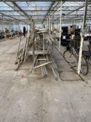 TWO STILLAGES OF SCAFFOLD TOWER/TOWERS - NO VAT