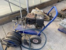 A MOBILE PRESSURE WASHER 6X390 WITH HONDA 130 ENGINE WITH HOSE AND REEL. - NO VAT