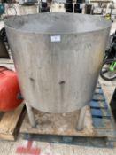 "A CIRCULAR TUB ON LEGS TUB 24"" HIGH 29"" DIAMETER TOTAL HEIGHT OF 40"" - NO VAT"