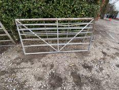 TWO GALVANISED GATES 8' LONG - + VAT