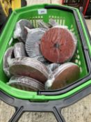 A BASKET OF 200 FIVE INCH GRINDING DISCS - NO VAT