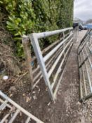 TWO GALVANISED GATES, ONE 12' AND ONE 13' - + VAT
