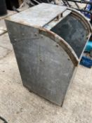 """A WASTE BIN 18"""" SQUARE 32"""" HIGH WITH FLOOR NO VAT"""