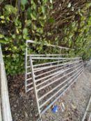 TWO GALVANISED GATES 16' LONG -+ VAT