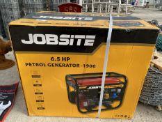 JOBSITE 6.5hp PETROL GENERATOR + VAT