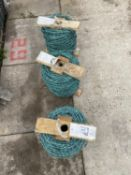 3 ROLLS OF BARBED WIRE (ONE LOT) + VAT