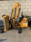 A RECO FERRI FLAIL HEDGE CUTTER WITH 3 METRE WIDE HEAD - NO VAT
