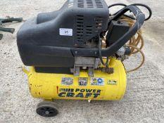 A POWER CRAFT MOBILE COMPRESSOR - NO VAT