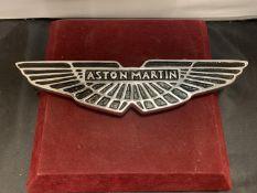 A CAST 'ASTON MARTIN' SIGN