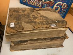 A PAIR OF LARGE ANTIQUE BOOKS 'ACTS AND MONUMENTS OF MATTERS MOST SPECIAL AND MEMORABLE HAPPENING IN