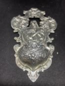 A CONTINENTAL SILVER HOLY WATER BOWL DEPICTING JESUS APPROXIMATELY 92 GRAMS H:15CM