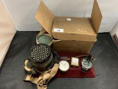 AN ORIGINAL GAS MASK IN A BOX