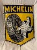 A LARGE ENAMEL SIGN 'MICHELIN' 60CM X 45CM