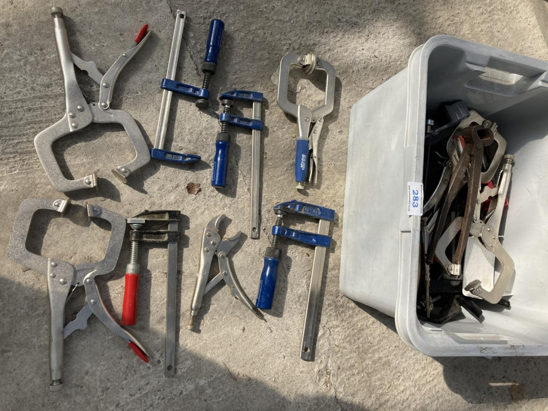 VARIOUS ITEMS TO INLCUDE CLAMPS AND SAWS NO VAT - Image 2 of 2