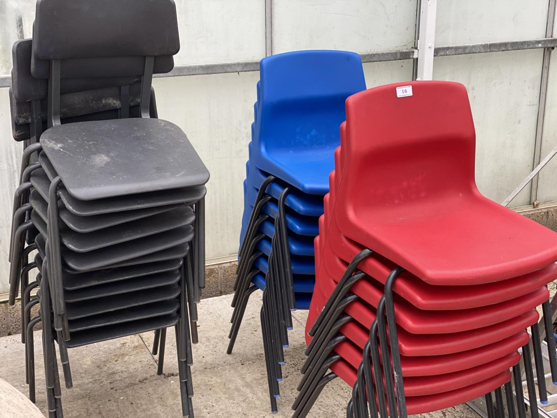 25 INFANT STACKING CHAIRS - N0 VAT