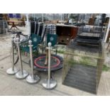 VARIOUS ITEMS TO INCLUDE FIVE DOG CRATES, TRAMPOLINE, BIKE, CHAIRS, BOLLARDS NO VAT