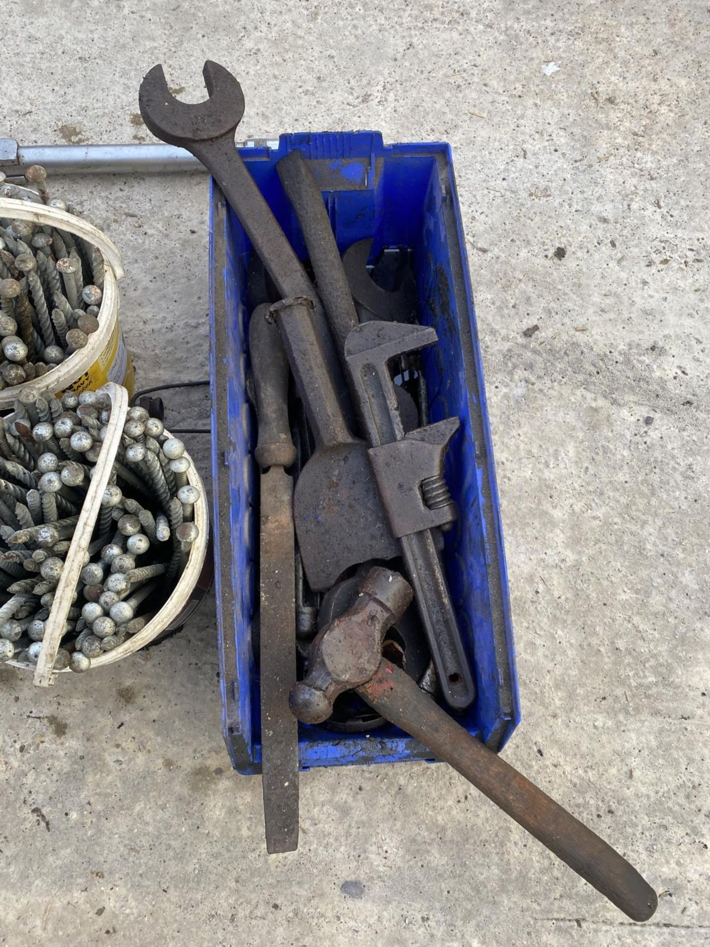 A QUANTITY OF SPANNERS & SCREWS ETC. - NO VAT - Image 3 of 5