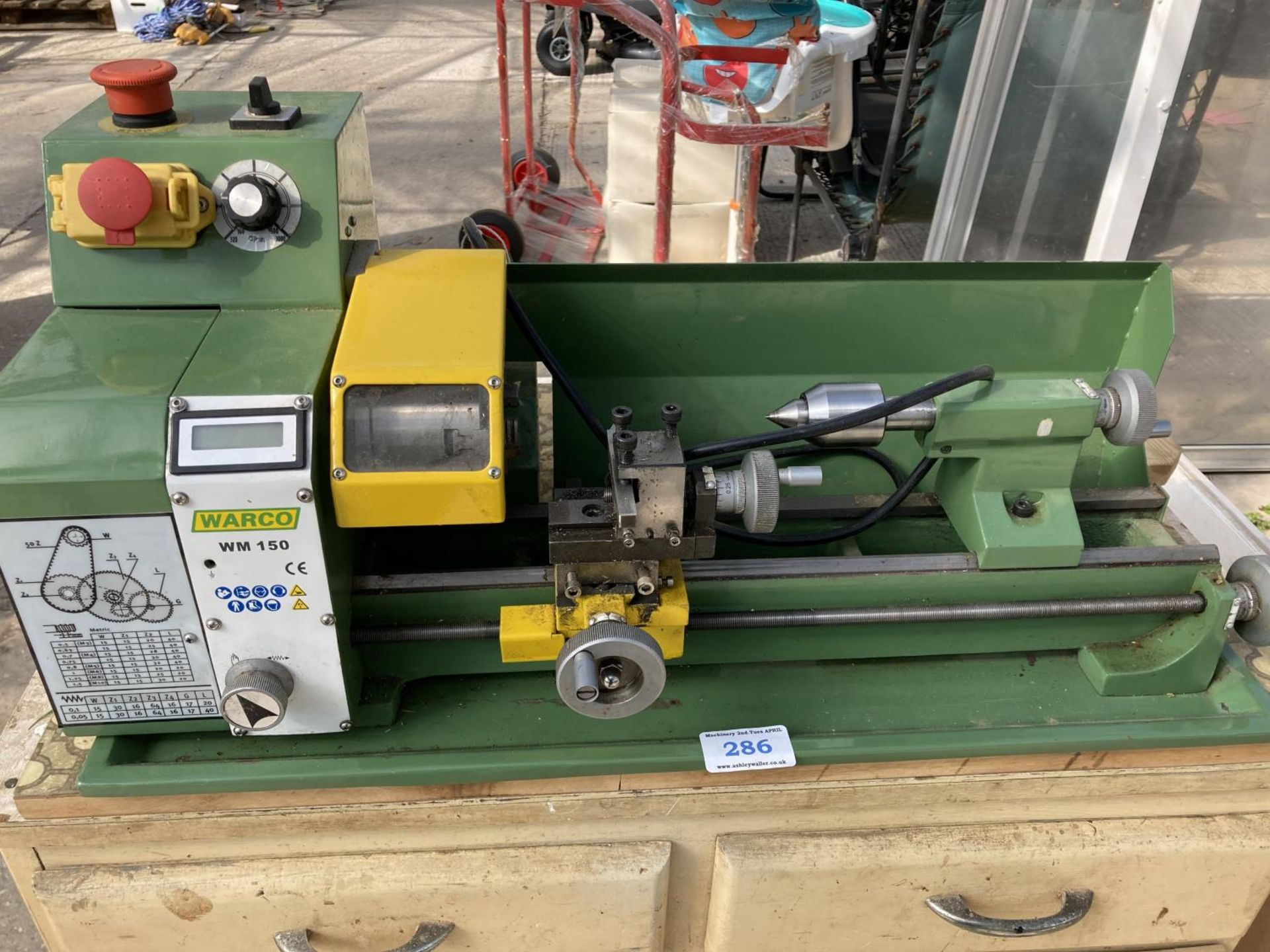 A WARCO WM150 LATHE AND A DRAW FULL OF ENGINEERING EQUIPTMENT NO VAT - Image 2 of 8