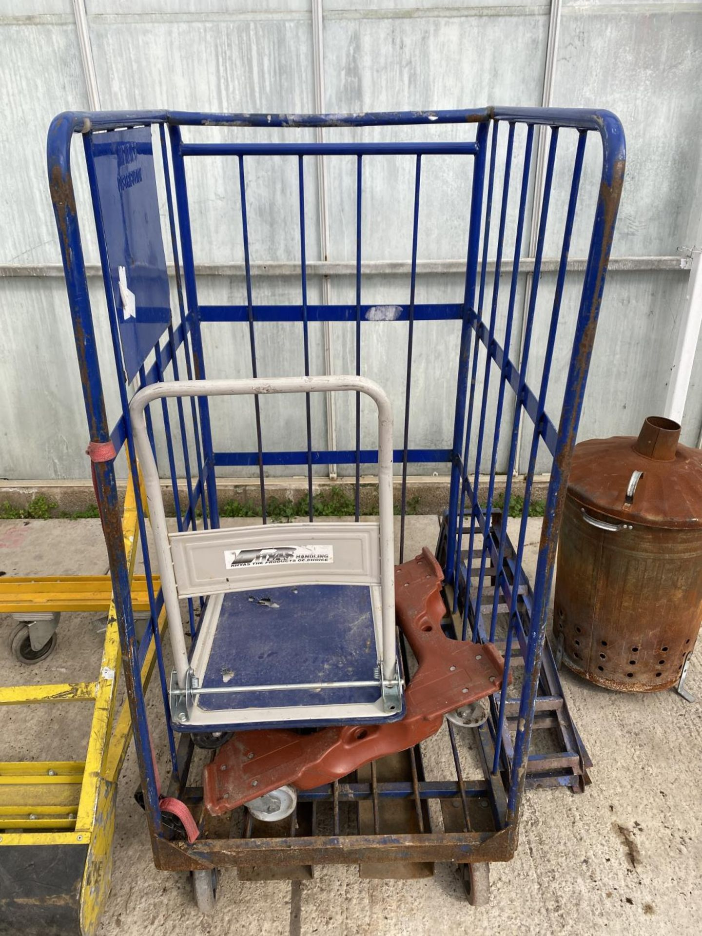 VARIOUS TROLLEYS AND AN INCINERATOR NO VAT - Image 3 of 5