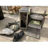 VARIOUS ITEMS TO INCLUDE STEPS, A FRIDGE, LIGHTS ETC NO VAT