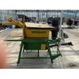 A KILWORTH PTO DRIVEN SAW BENCH AND BLADE BELIEVED WORKING NO WARRANTY + VAT