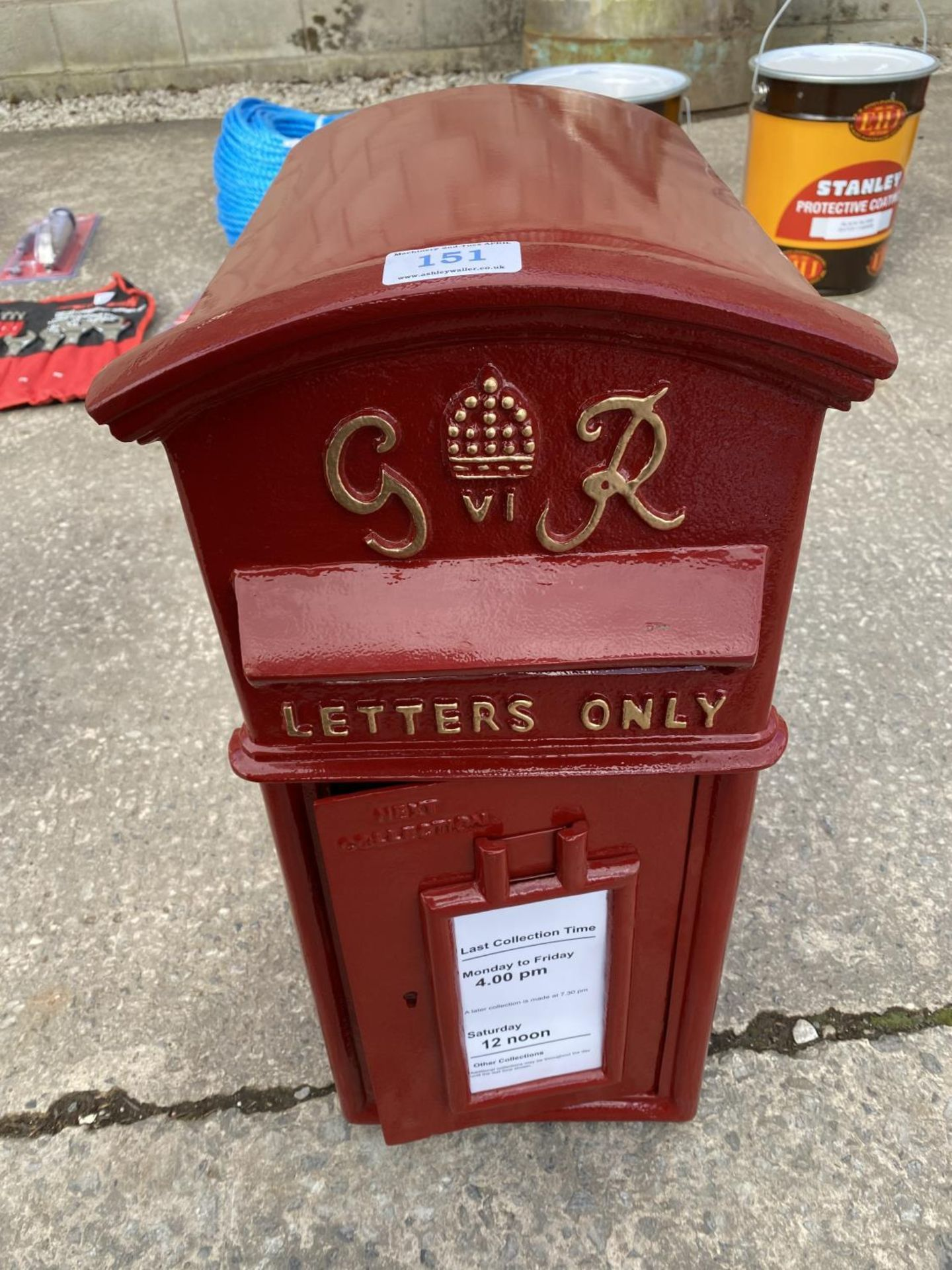 "POST BOX WITH KEY 2'5"" HIGH 9"" WIDE + VAT"