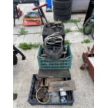 A MIG WELDER ON A TROLLEY BASE TO INCLUDE WELDER ACCESSORIES WORKING WHEN LAST USED+ VAT