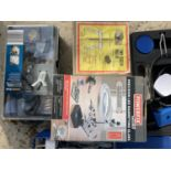 VARIOUS ITEMS TO INCLUDE A DRAPER SOLDERING KIT, PRESISION MAGNIFYING GLASS, CATAPULT ETC NO VAT