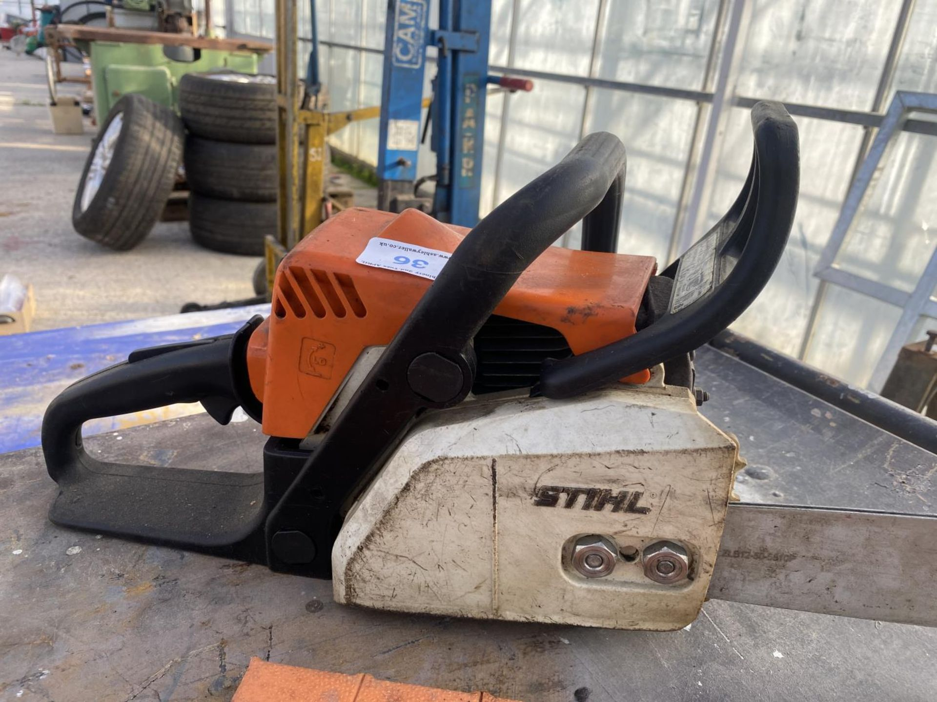 A STIHL MS170 CHAINSAW NO VAT - Image 3 of 6