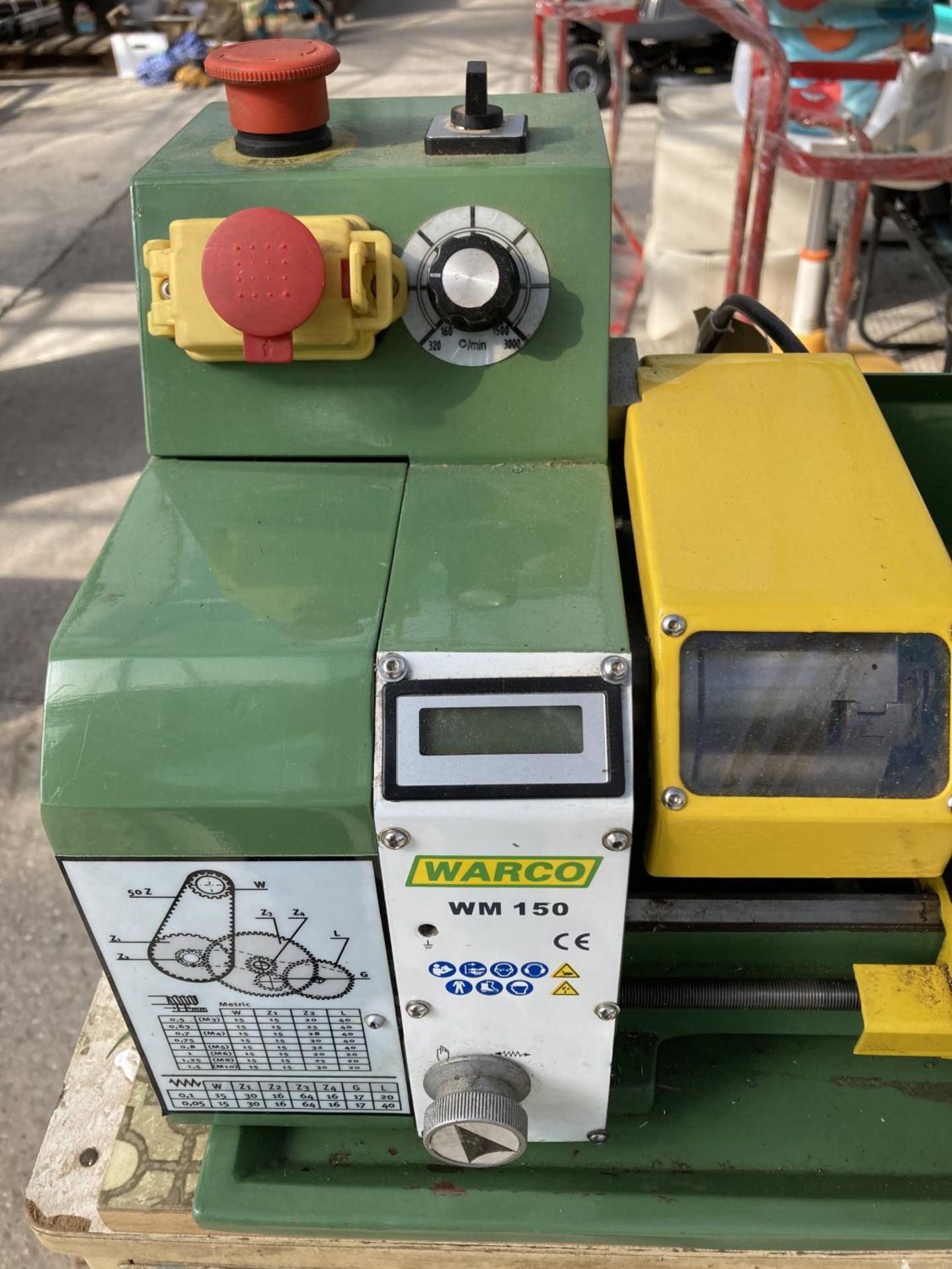 A WARCO WM150 LATHE AND A DRAW FULL OF ENGINEERING EQUIPTMENT NO VAT - Image 3 of 8