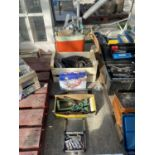 THREE BOXES CONTAINING VARIOUS MORTICING ATTACHMENTS NO VAT