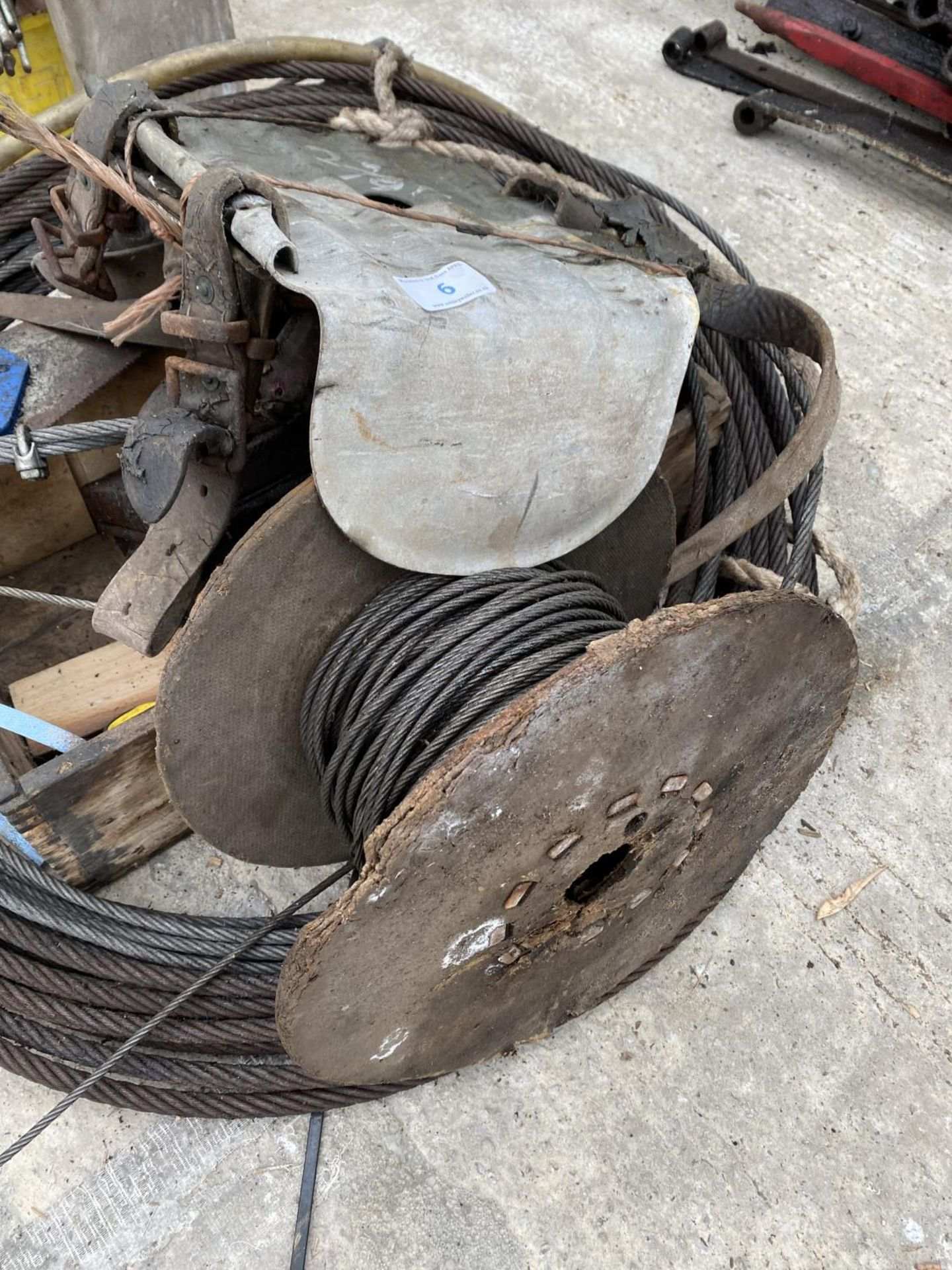 VARIOUS WIRE ROPES - NO VAT - Image 3 of 3