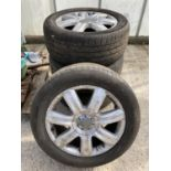 FOUR AUDI ALLOY WHEELS AND TYRES 265/50R19 NO VAT
