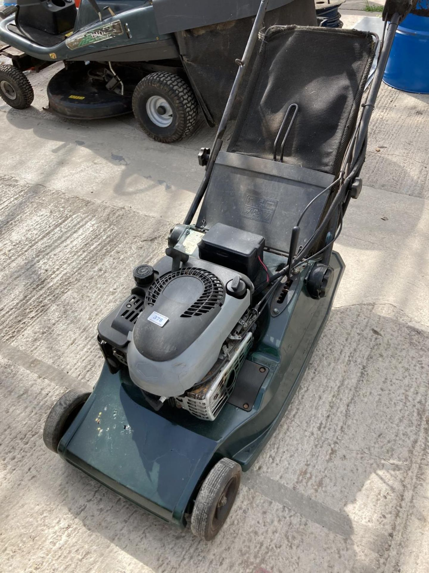 A HAYTER 19 INCH HARRIER ROLLER DRIVE LAWN MOWER BELIEVED WORKING BUT NO WARRANTY NO VAT