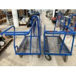 TWO TROLLEYS AND SIX WHEELS NO VAT