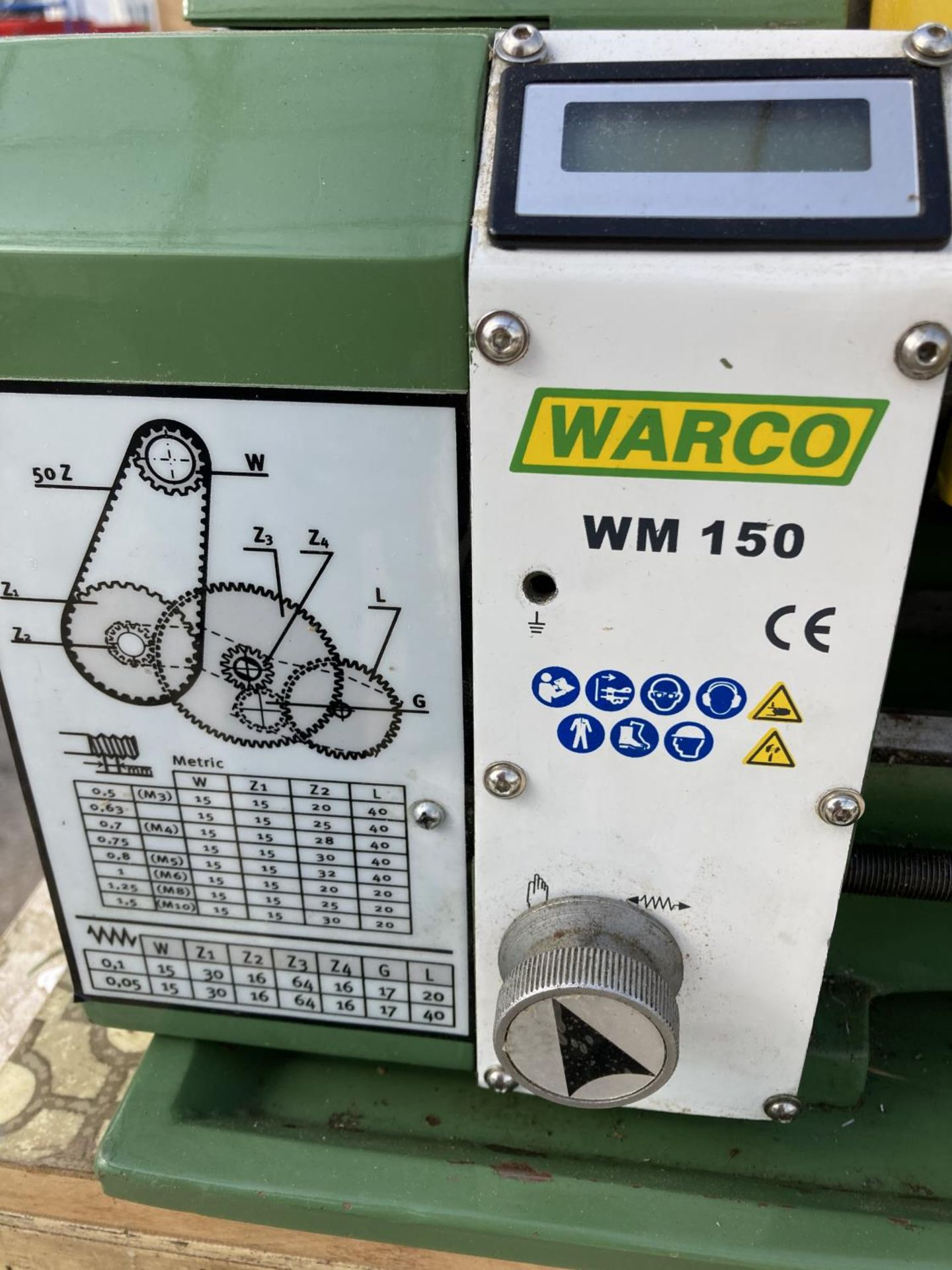 A WARCO WM150 LATHE AND A DRAW FULL OF ENGINEERING EQUIPTMENT NO VAT - Image 4 of 8