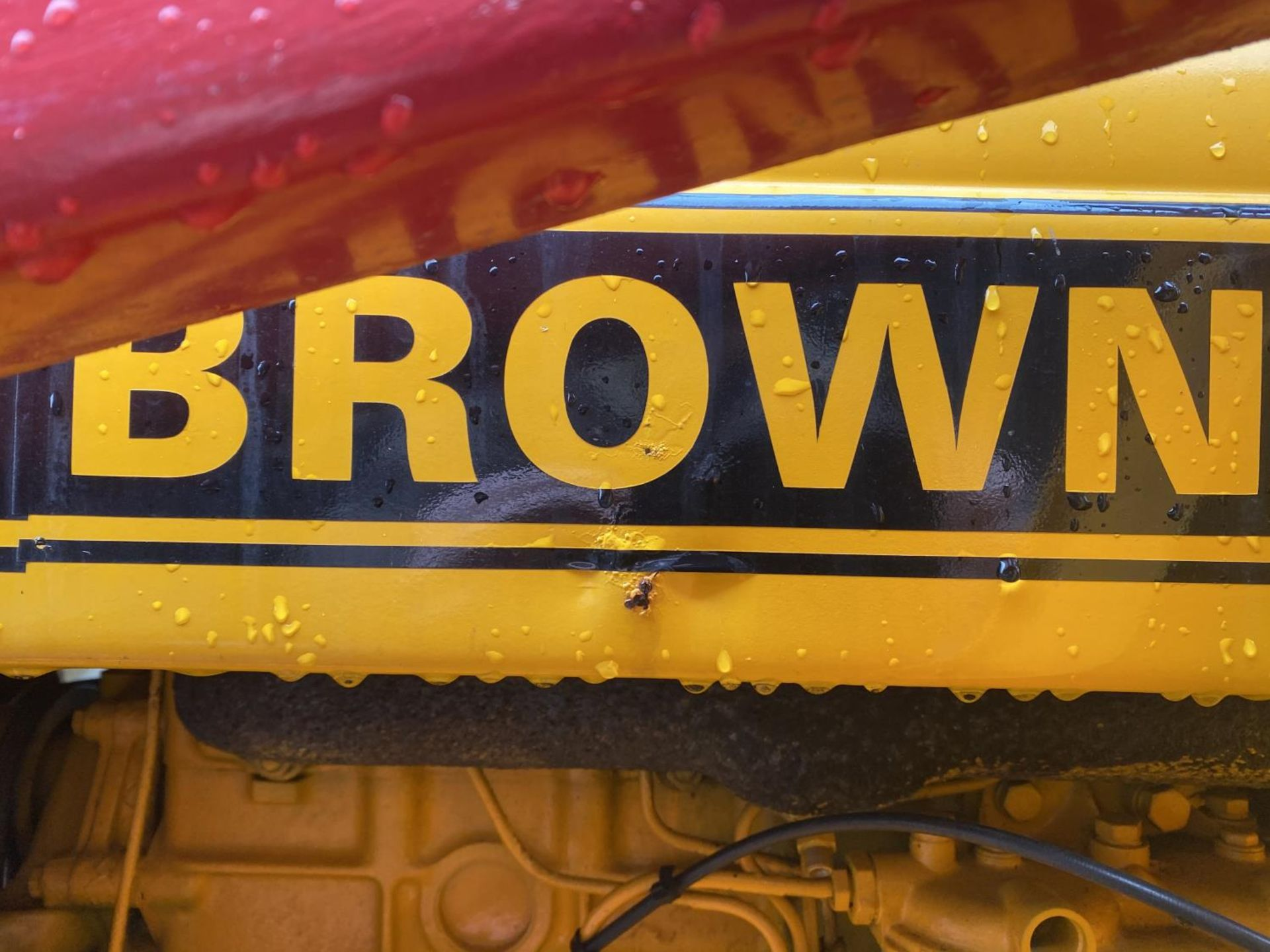 A DAVID BROWN 995 TRACTOR WITH FORE END LOADER AND MANURE FORK 3779 HOURS - Image 7 of 11
