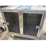 A HEAVY DUTY TWIN DOG CRATE NO VAT