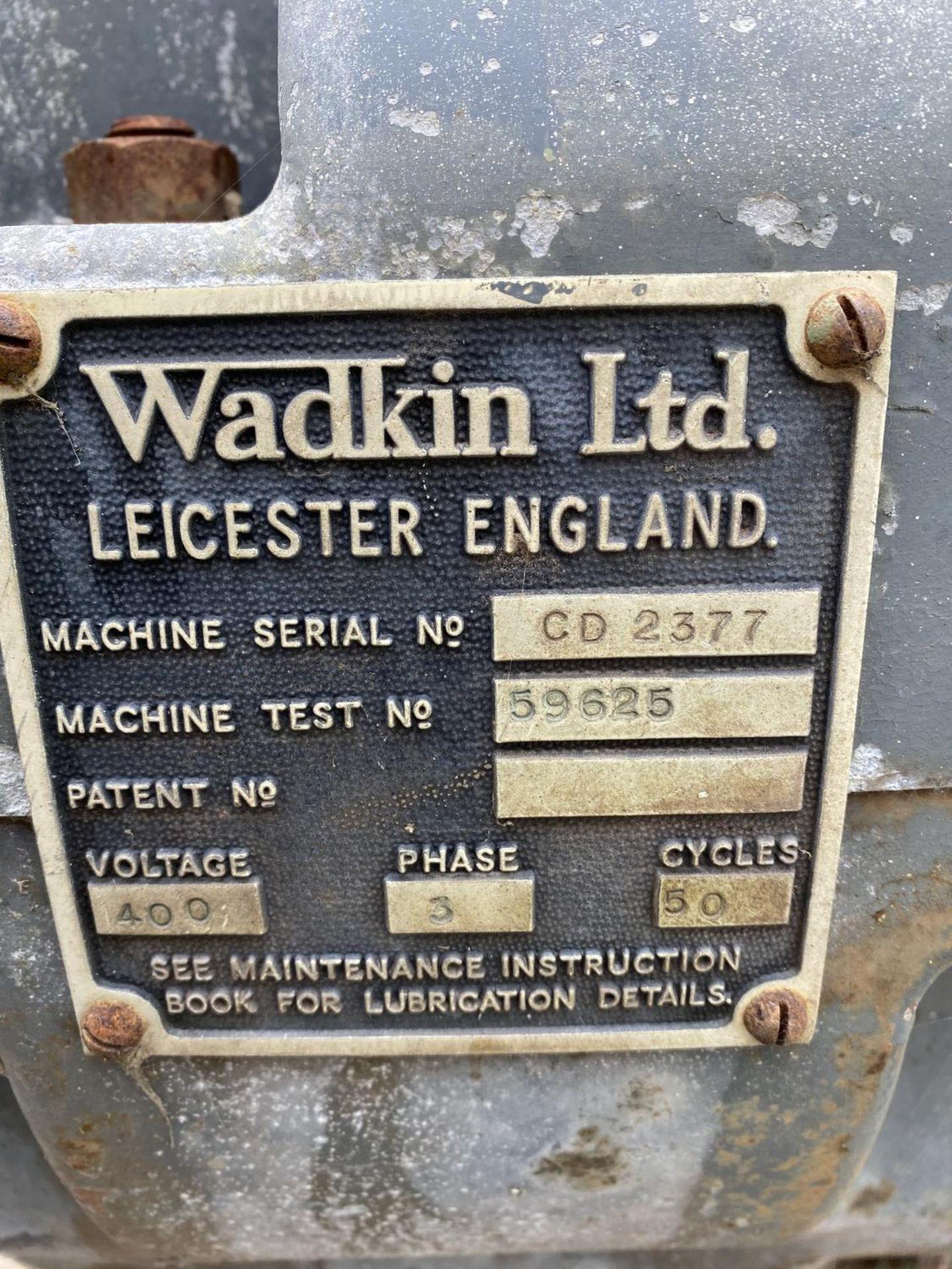 A WADKIN LTD. 3 PHASE SAW - BELIEVED WORKING NO WARRANTY - NO VAT - Image 2 of 4