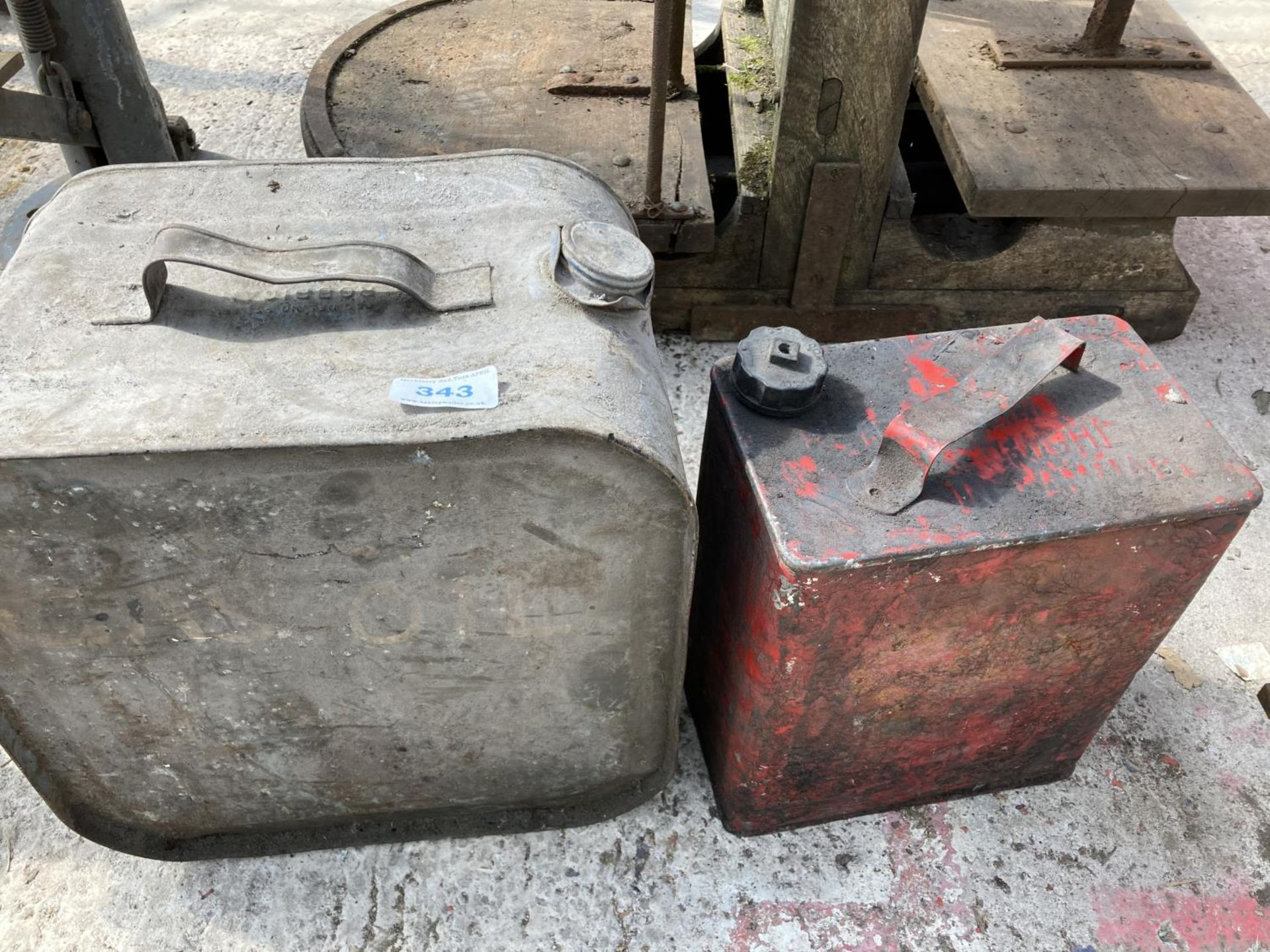 TWO FUEL CANS NO VAT