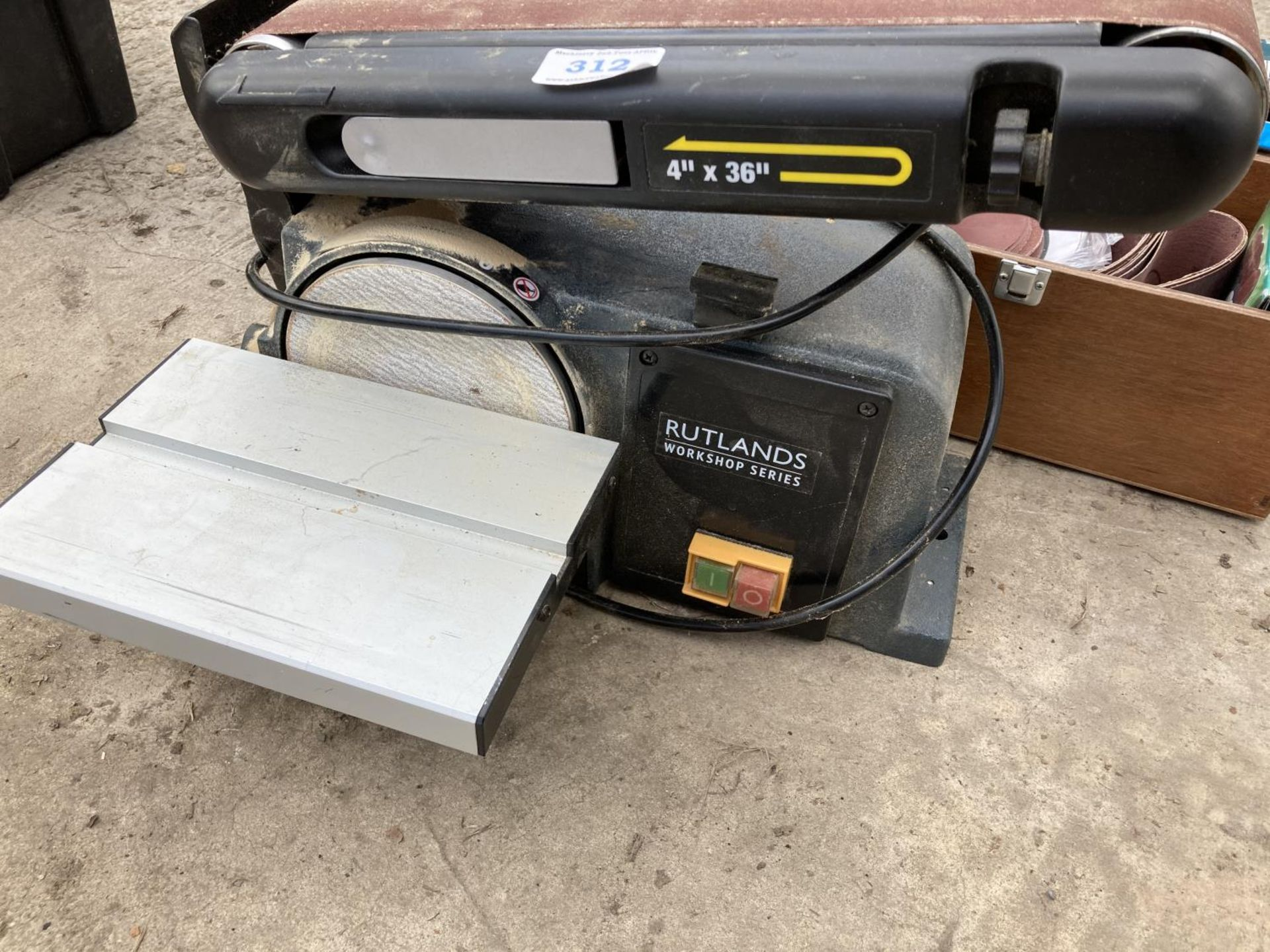 A RUTLAND SANDER AND TWO BOXES OF BELTS NO VAT - Image 3 of 3
