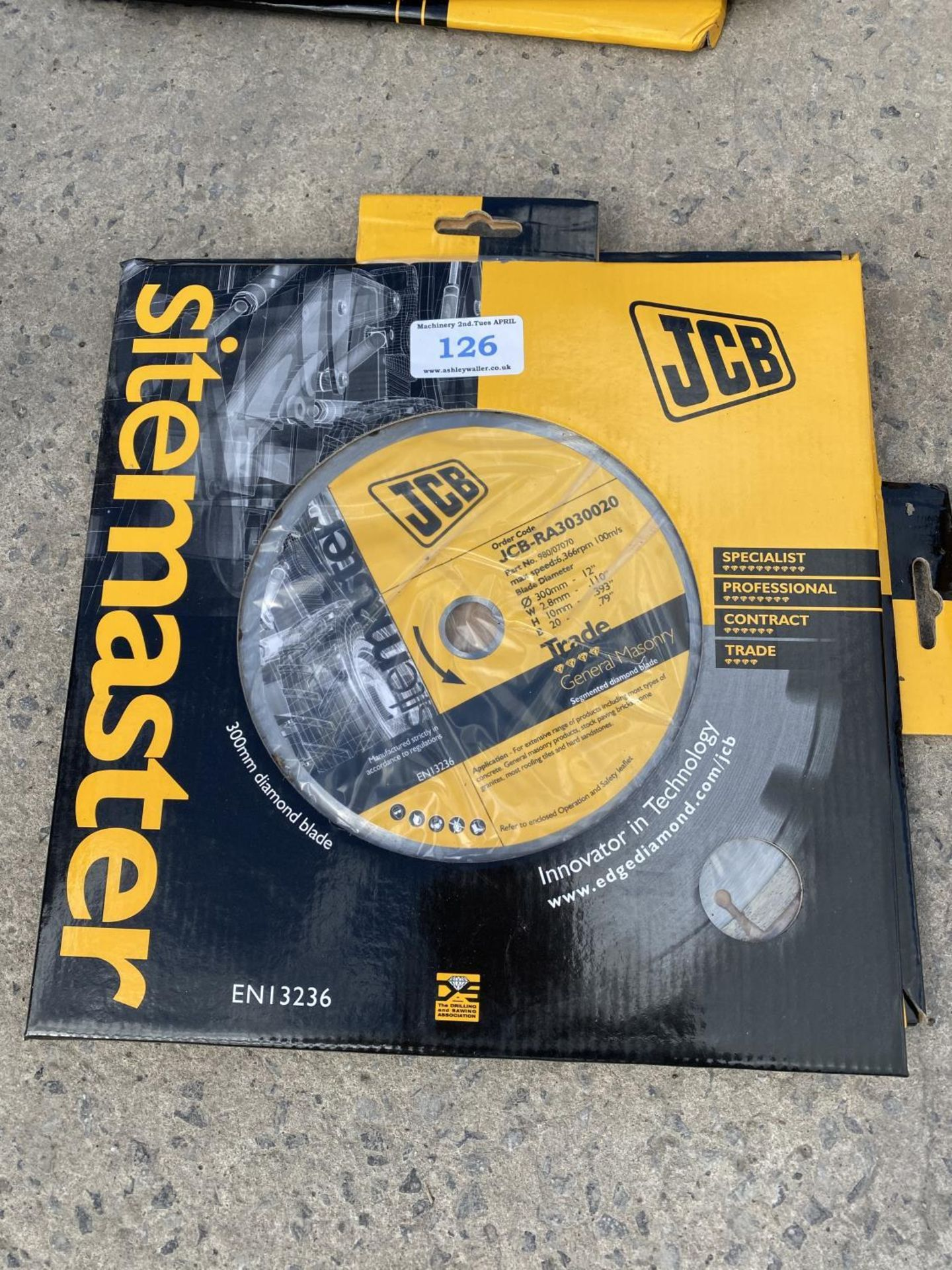 TWO JCB STONE CUTTING DISCS + VAT